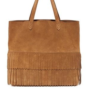 Madewell Suede Fringe Transport Tote